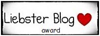 Liebster blog award